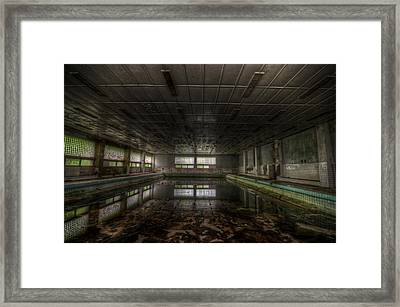 In At The Deep End Framed Print