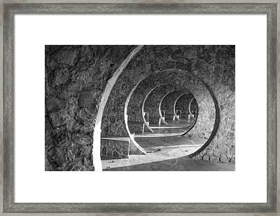 In Circles Framed Print