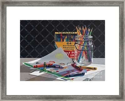 In The Beginning Framed Print by Arlene Steinberg