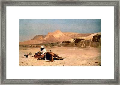 In The Desert Framed Print by Jean-Leon Gerome