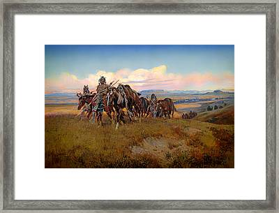 In The Enemy's Country Framed Print