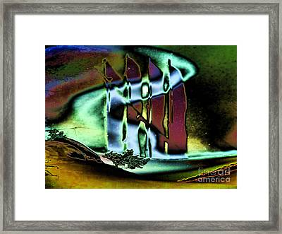 In The Fog Framed Print by Mojo Mendiola