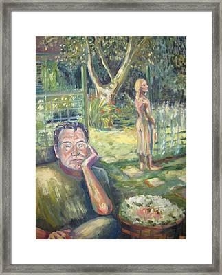 In The Garden Framed Print by Ellen Howell