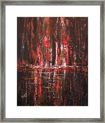 Framed Print featuring the painting In The Heat Of The Night by Patricia Lintner