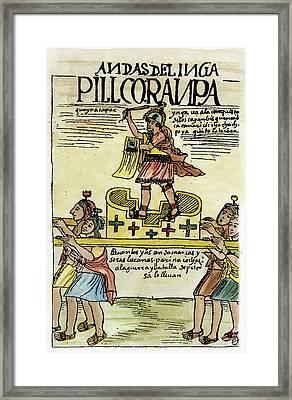 Inca Warrior Framed Print by Granger