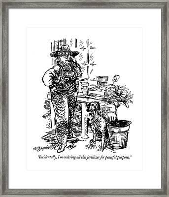 Incidentally Framed Print by William Hamilton