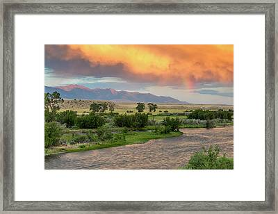 Incredible Stormy Light On The Madison Framed Print by Chuck Haney