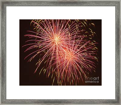 Independence Day Fireworks Framed Print by Philip Pound