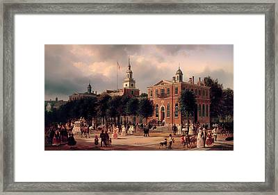 Independence Hall In Philadelphia Framed Print by Mountain Dreams
