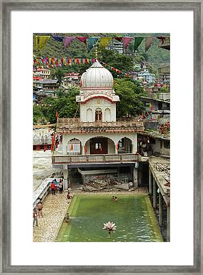 India, Himachal Pradesh, Manikaran, Sri Framed Print by Anthony Asael