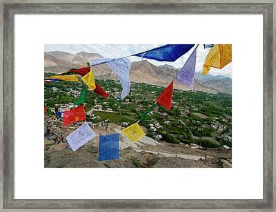 India, Ladakh, Leh, Capital Of Ladakh Framed Print