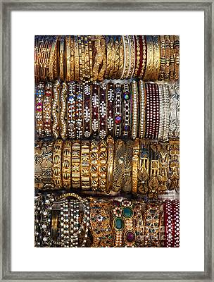 Indian Bangles Framed Print by Tim Gainey