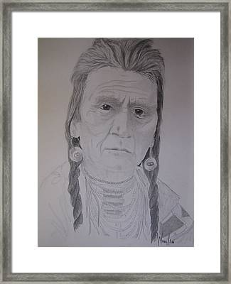 Indian Chief Framed Print by BD Nowlin