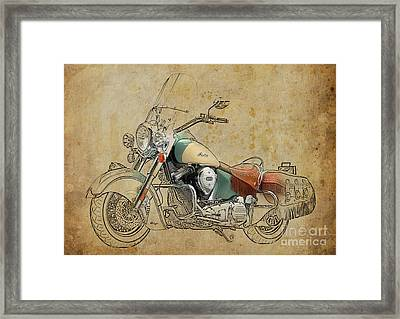 Indian Chief Vintage 2012 Framed Print