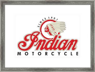 Indian Motorcycle Logo Framed Print