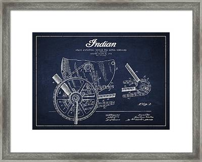 Indian Motorcycle Patent From 1902 Framed Print by Aged Pixel