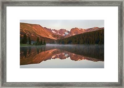 Indian Peaks At Sunrise Framed Print