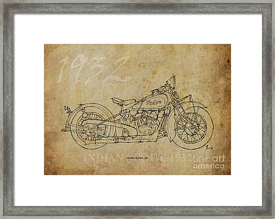 Indian Scout 1932 Framed Print by Pablo Franchi