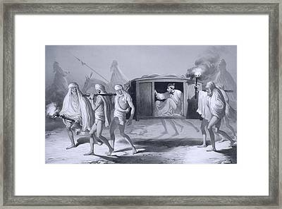Indian-style Post-chaise In The Pubjab Framed Print by A. Soltykoff