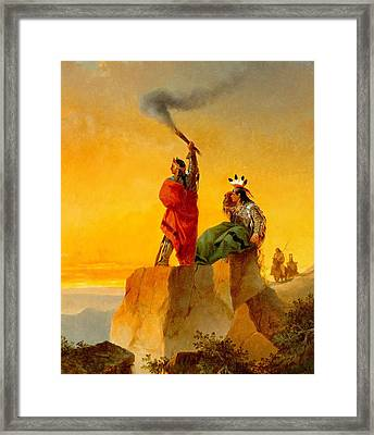 Indian Telegraph Framed Print