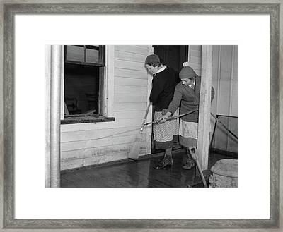 Indiana Flood, 1937 Framed Print