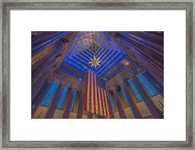 Indiana War Memorial Shrine  Framed Print by David Haskett
