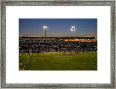 Indianapolis Indians Victory Field Sunset 4694 Framed Print by David Haskett
