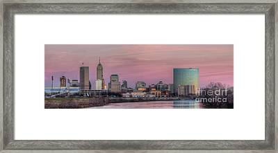 Indianapolis Skyline Framed Print