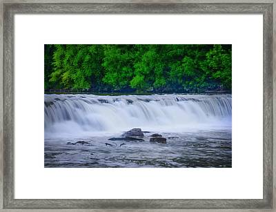 Indianhead Dam Framed Print by Bill Cannon
