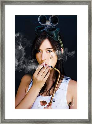 Industrial Fumes Framed Print by Jorgo Photography - Wall Art Gallery
