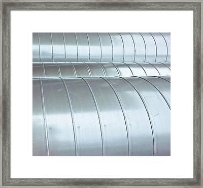 Industrial Metal Framed Print by Tom Gowanlock