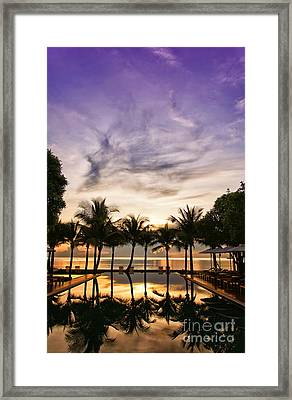 Infinity Pool Sunrise Framed Print