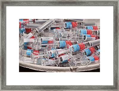 Influenza Vaccines Framed Print by Dr P. Marazzi