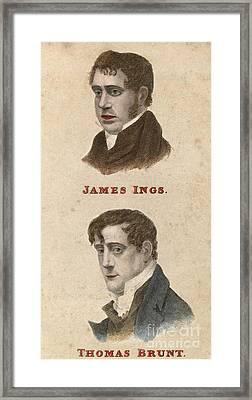 Ing And Brunt, British Conspirators Framed Print