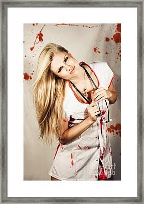 Inhospitable Horror Hospital Framed Print by Jorgo Photography - Wall Art Gallery