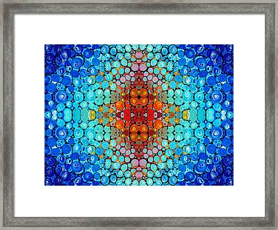 Inner Light - Abstract Art By Sharon Cummings Framed Print