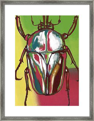 Insect Stylised Pop Art Drawing Potrait Poser Framed Print