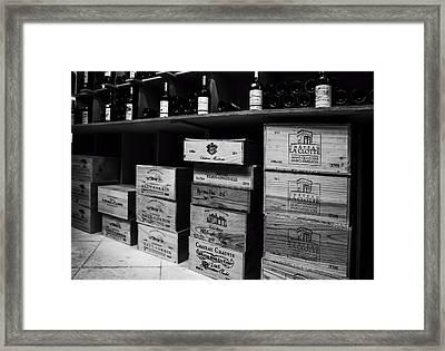 Wine Store Inside Framed Print by Georgia Fowler