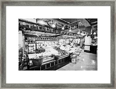 inside lonsdale quay market shopping mall north Vancouver BC Canada Framed Print by Joe Fox