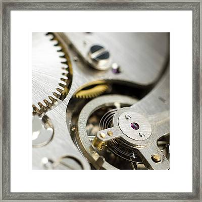 Inside Of Pocket Watch Framed Print