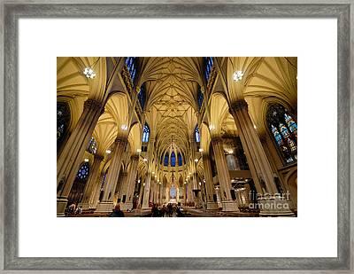Inside St Patricks Cathedral New York City Framed Print by Amy Cicconi