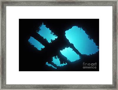 Inside The Chaouen Shipwreck Framed Print by Sami Sarkis