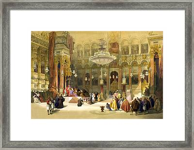 Inside The Church Of The Holy Sepulchre Framed Print by Munir Alawi