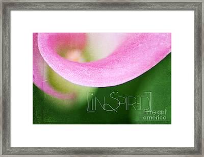 Inspired Framed Print by Darren Fisher