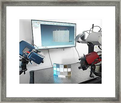 Instrumentation Measurement Testing Framed Print by Andrew Brookes, National Physical Laboratory