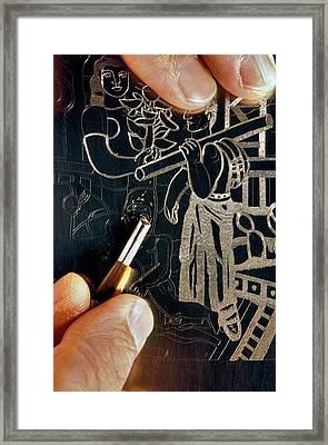 Intaglio Printmaking Framed Print by Patrick Landmann
