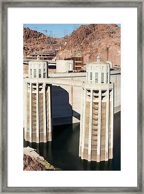 Intake Towers For The Hydro Plant Framed Print by Ashley Cooper