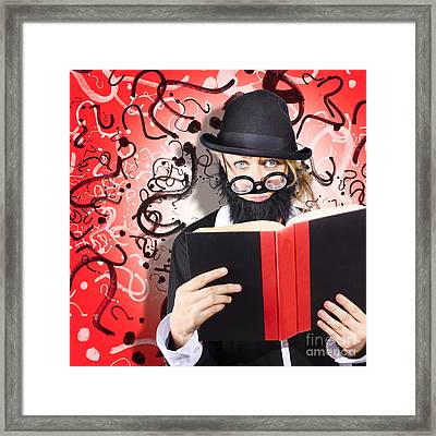 Intelligent Man Conducting Business Research Framed Print by Jorgo Photography - Wall Art Gallery