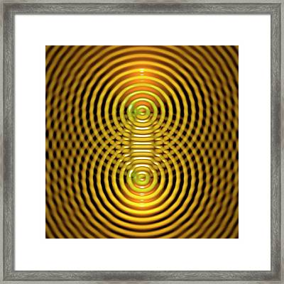 Interference Patterns Framed Print