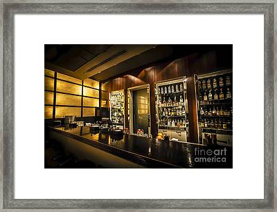 interior of a bar HDR Framed Print